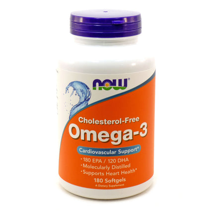 Omega-3 1000 mg Cholesterol Free by Now Foods 180 Softgels