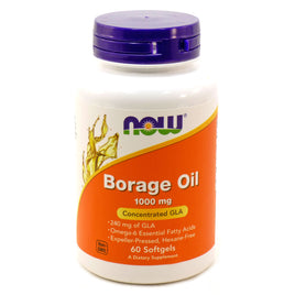 Borage Oil 1000 mg 240 mg GLA by Now Foods 60 Softgels