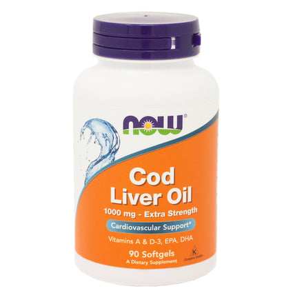 Now Foods Cod Liver Oil 1000Mg    90 Sgels