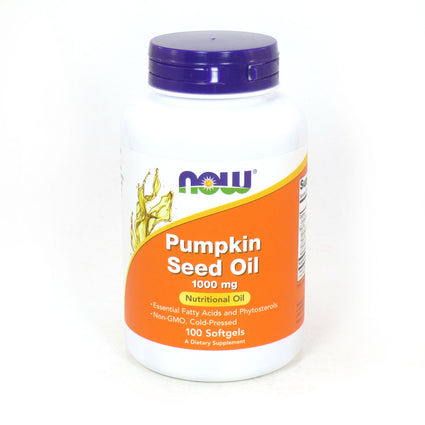 Pumpkin Oil 1000 mg by Now Foods - 100 Softgels