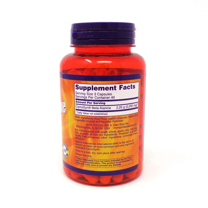 Beta Alanine 750 mg By Now Foods - 120 Capsules