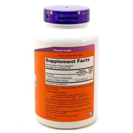 Chitosan 500mg Plus By Now Foods - 240 Capsules