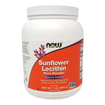 Sunflower Lecithin Pure Powder By Now Foods - 1 Pound