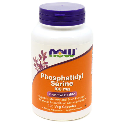 Phosphatidyl Serine Choline & Inositol 100 mg Vegetarian by Now Foods 120 Caps