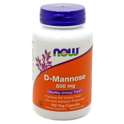 D-Mannose 500Mg    By Now Foods - 120 Caps