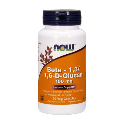 Beta 1 3/1 6 D Glucan 100 mg by Now Foods 90 Vegetarian Capsules