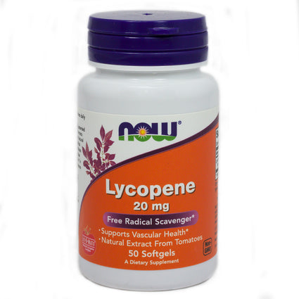 Lycopene 20 Mg 2X    By Now Foods - 50 Sgels