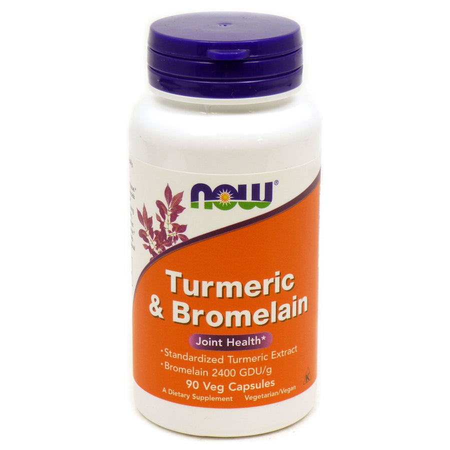 Turmeric & Bromelain  by Now Foods - 90 Capsules