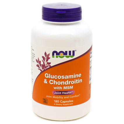Glucosamine & Chondroitin with MSM by Now Foods180 Capsules