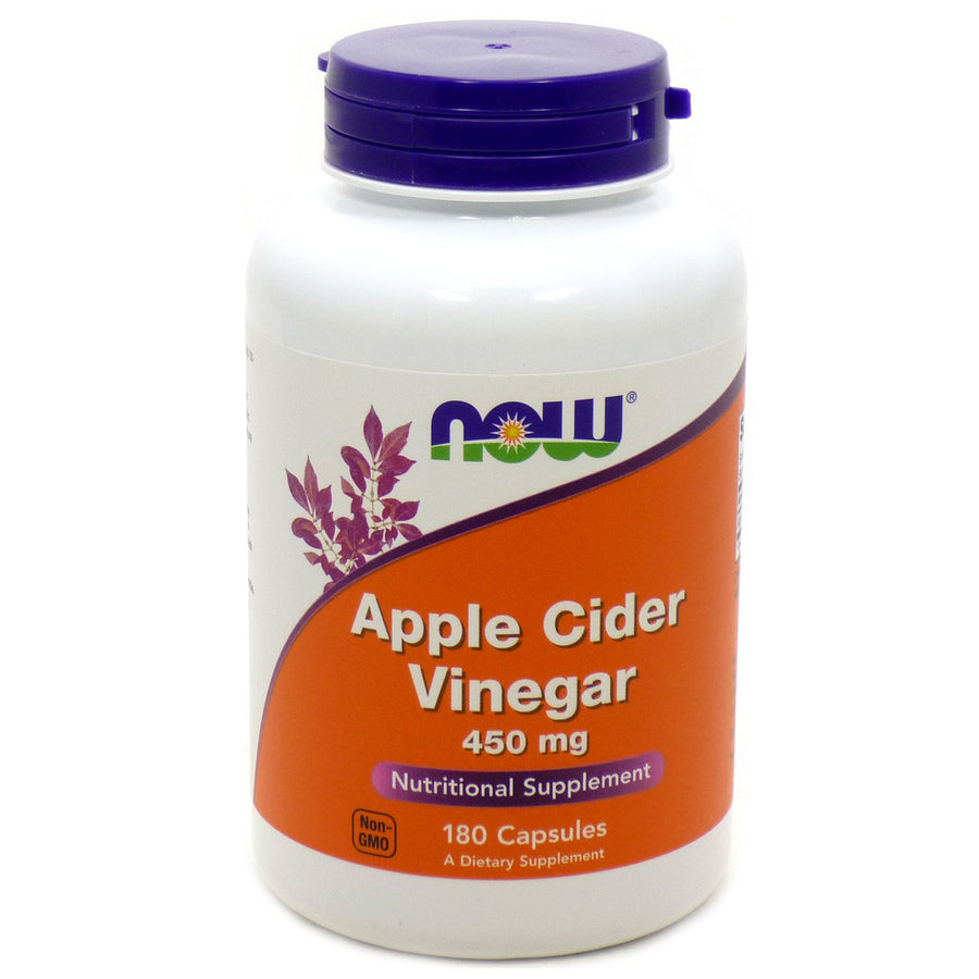 Apple Cider Vinegar 450 Mg  By Now Foods - 180 Vcaps