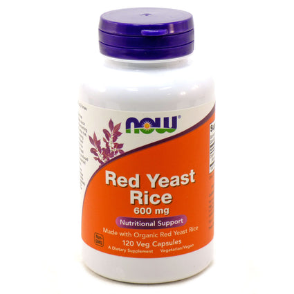 Red Yeast Rice Extract Vegetarian 600 mg by Now Foods 120 Vegetarian Capsules