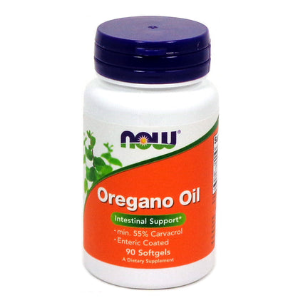 Oregano Oil Enteric Coated  90 Sgels By Now Foods -