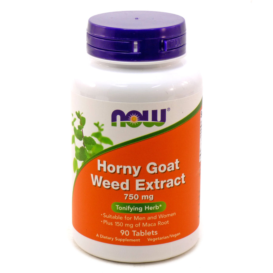 Horny Goat Weed Extract 750 mg by Now Foods - 90 Tablets