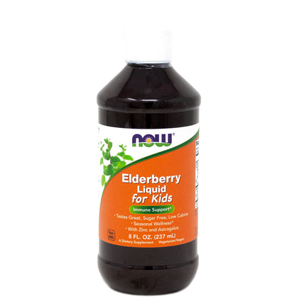 Now Foods Elderberry Liquid for Kids  - 8 Fluid Ounces