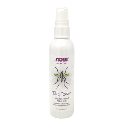 Bug Ban Spray Natural Insect Repellent By Now Foods - 4 Ounces