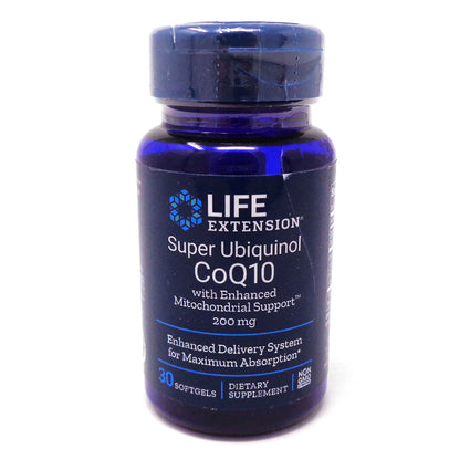 Ubiquinol CoQ10 200 mg by Life Exension - 30 Softgels