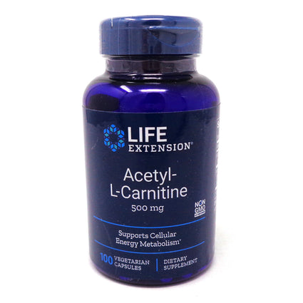 Acetyl-L-Carnitine by Life Extension - 100 Capsules