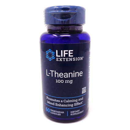 Life Extension L- Theanine 100 mg - 60 Veg Capsules