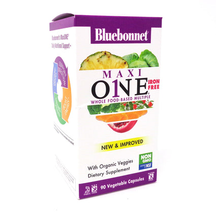 Bluebonnet Maxi One Iron Free - 90 Capsules