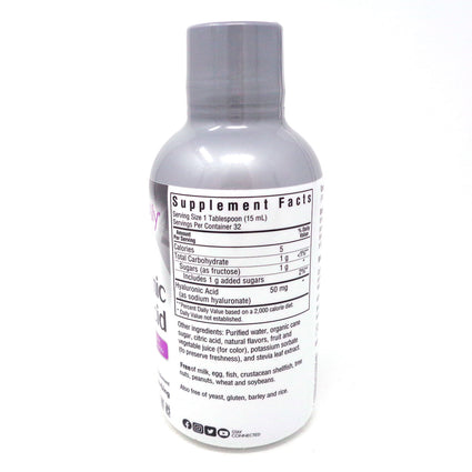 Bluebonnet BeautifulAlly Liquid Hyaluronic Acid Mixed Berry Flavor - 16 Fluid Ounces