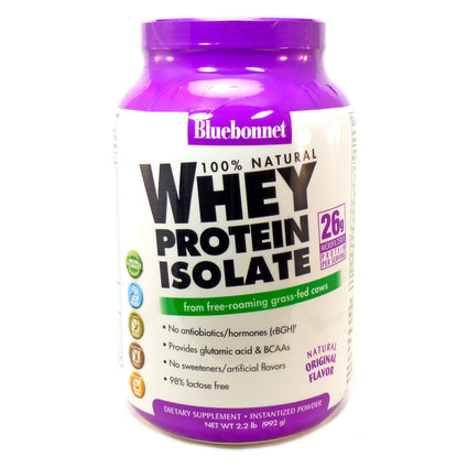 Bluebonnet Whey Protein Isolate Natural Flavor  - 2.2 Pounds