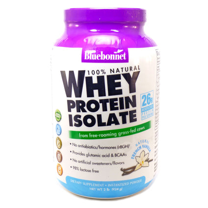 Bluebonnet Whey Protein Isolate Vanilla  - 2 Pounds