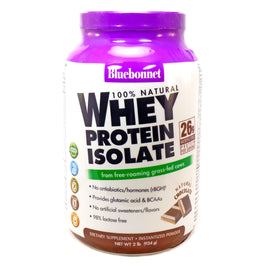 Bluebonnet Whey Protein Isolate Natural Chocolate  - 2 Pounds