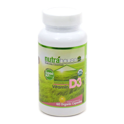 Organic Vitamin D3 by Nutrahouse - 60 Capsules