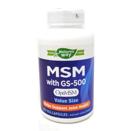 Nature's Way MSM with GS-500  - 180 VEG Capsules