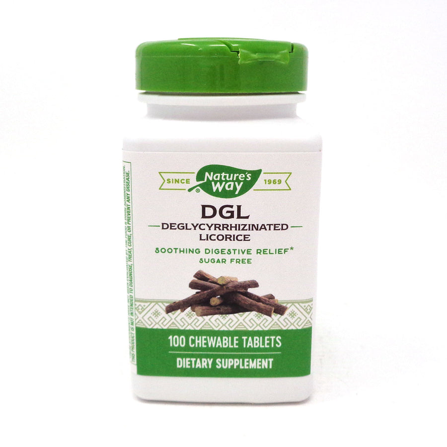 Nature's Way (Formerly Enzymatic Therapy) DGL No Fructose Formula  100 Tablets