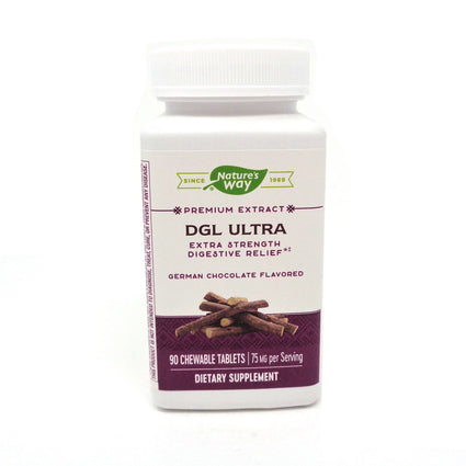 DGL Ultra Chocolate Flavor By Enzymatic Therapy - 90 Chewables