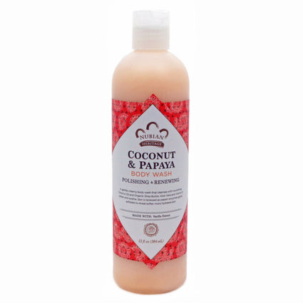 Body Wash Coconut Papaya By Nubian Heritage - 13 Ounces