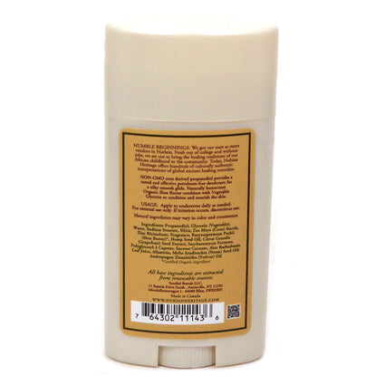 Deodorant Indian Hemp & Haitian Vetiver w/ Neem Oil By Nubian Heritage - 2.25 Oz