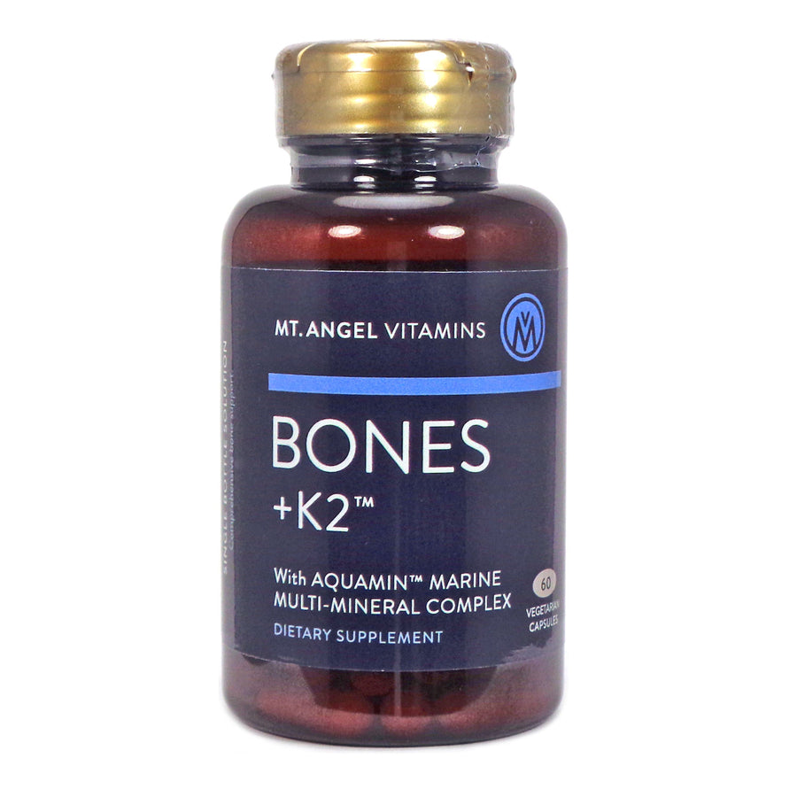 Bones with K2 by Mt Angel - 60 Capsules