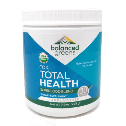 Balanced Greens For Total Health Superfood Unflavored - 7.9 Ounces