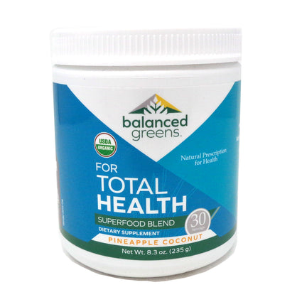 Balanced Greens For Total Health Superfood Pineapple Coconut - 8.3 Ounces