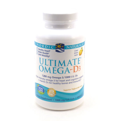 Ultimate Omega D3 1000 mg By Nordic Naturals - 120 Soft Gels