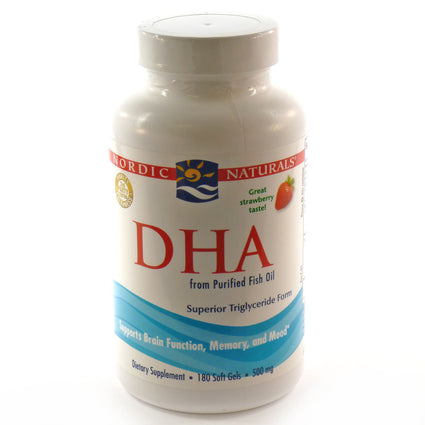 DHA Strawberry 500 mg By Nordic Naturals - 180 Soft Gels