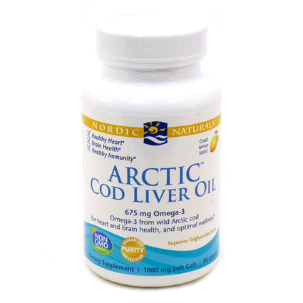 Arctic Cod Liver Oil (Lemon) by Nordic Naturals - 90 Softgels