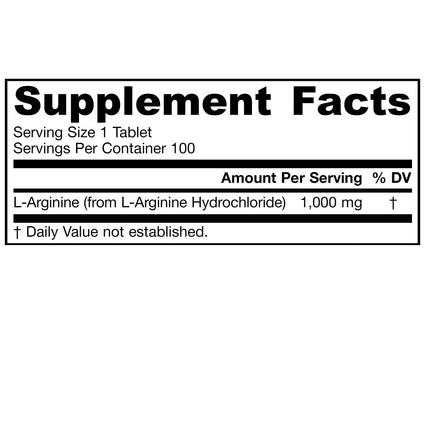 Arginine 1000 by Jarrow - 100 Easy-Solv Tablets