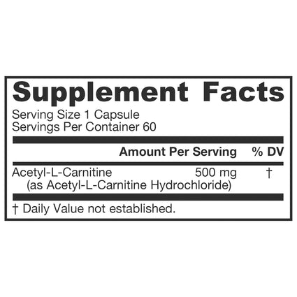 Acetyl L-Carnitine - 250 mg by Jarrow 60 Capsules
