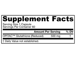 Glutathione Reduced 500mg By Jarrow - 60 Capsules