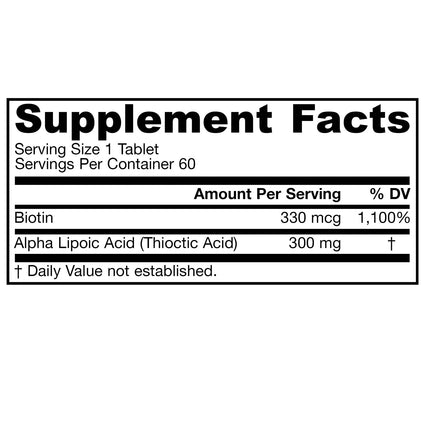 Alpha Lipoic Sustain 300 by Jarrow 60 Sustained Release Tablets