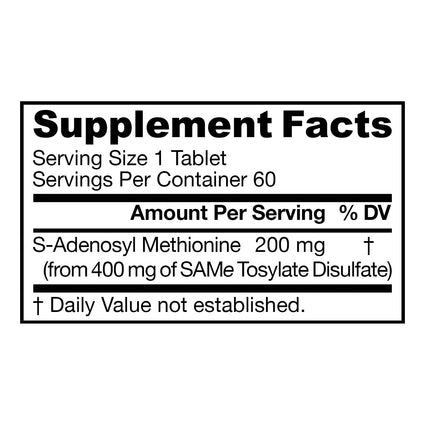 SAM-e 200 by Jarrow - 60 Enteric-Coated Tablets
