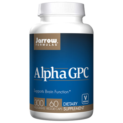 Alpha GPC 300 mg by Jarrow 60 Vegetarian Capsules