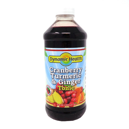 Dynamic Health Cranberry Turmeric & Ginger Tonic Liquid (Btl-Plastic) 16oz