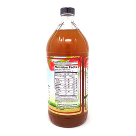 Apple Cider Vinegar w Mother & Honey Glass By Dynamic Health - 32 Ounces