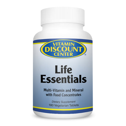 Life Essentials Multivitamin Minerals by Vitamin Discount Center - 180 Tablets