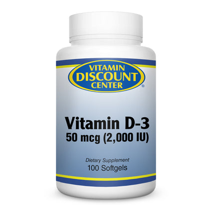 Vitamin D-3 2000 IU By Vitamin Discount Center - 100 Softgels