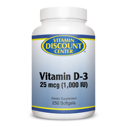 Vitamin D 1000 IU by Vitamin Discount Center - 250 Softgels